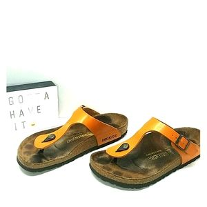 Birkenstock Gizeh Thong Sandals Size 8 Marygold